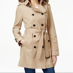 BRAND NEW Michael Kors Trench Coat with Hood